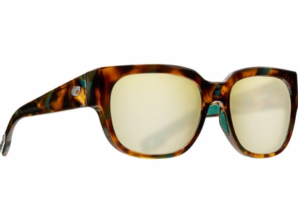 Costa Waterwoman Sunglasses - Shiny Palm Tortoise/Sunrise Silver Mirror