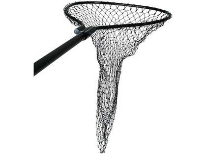 Cumings B-DS-3-SAW Black Deluxe Boat Net 21.5in x 26in Bow 36in Handle