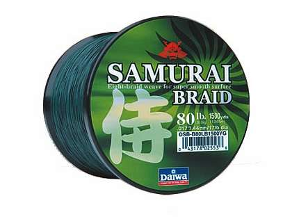 Daiwa DSB-B80LB300YG 300yds 80lb Green Samurai Braid Line