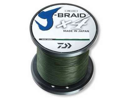 Daiwa J-Braid X4 Dark Green Line - 3000yds 65lb-80lb Test 65