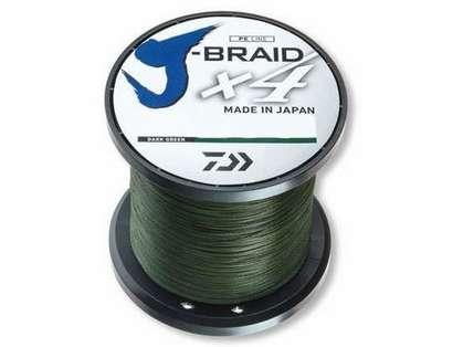 Daiwa J-Braid X4 Dark Green Line - 3000yds 40