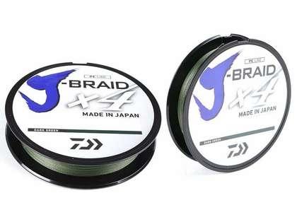 Daiwa J-Braid X4 Dark Green Line - 300yds 30