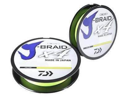 Daiwa J-Braid X4 Fluorescent Yellow Line - 150yds 6