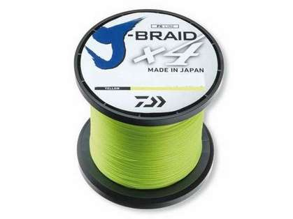 Daiwa J-Braid X4 Fluorescent Yellow Line - 3000yds 30