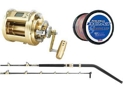 Daiwa Marine Power Swordfish & Deep Drop Combo w/ 80lb Saltiga Braid