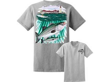 David Dunleavy DDM8017 Striper/Lighthouse Tee Athletic Heather