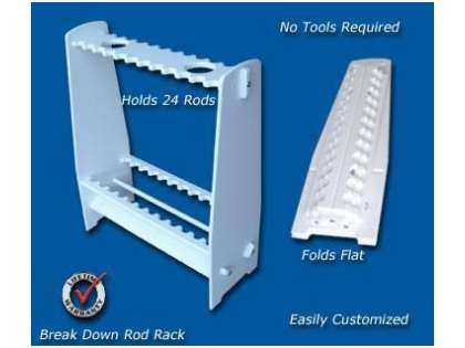 Deep Blue BD-24 Break Down Rod Rack