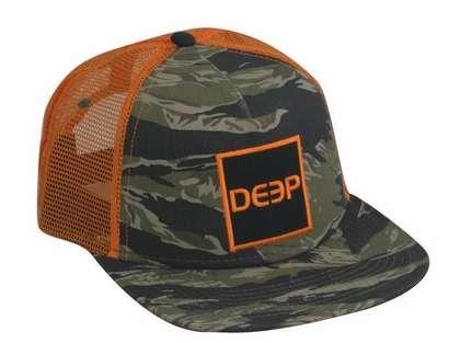 Deep Ocean Square Flatbrim Trucker Hat