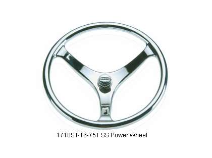 Edson 1710ST-16-75T Stainless Steel Power Wheel