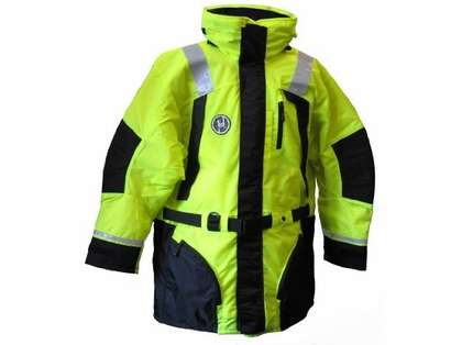 First Watch AC-1100-HV Flotation Coat Hi-Vis Yellow