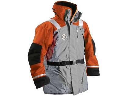 First Watch AC-1100-OG Flotation Coat Orange/Grey