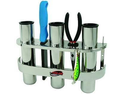 Fish-On! Stainless Steel 3-Rod Rack