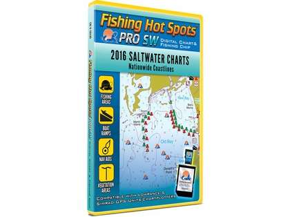 Fishing Hot Spots E186 PRO SW Digital Chart - 2016 Saltwater Charts