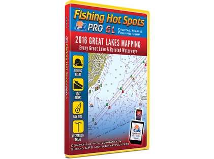 Fishing Hot Spots E226 PRO GL Digital Map - 2016 Great Lakes Mapping