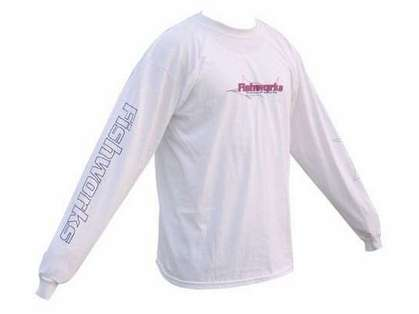 Fishworks TSL08 Marlin Outline Logo Long Sleeve White