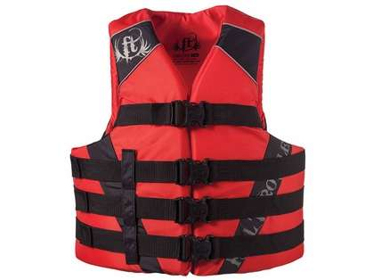 Full Throttle 1122 Adult Dual-Sized Nylon Water Sports Vest - Red