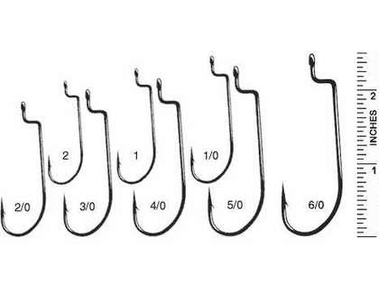 Size 1//0 New Gamakatsu Offset Shank EWG Worm Hooks 2//0 /& 3//0 17 Total Hooks