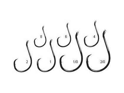 Package of 10 Size 8 Black Gamakatsu Octopus Circle Fishing Hooks
