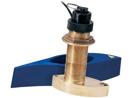 Garmin B744VL Long Stem Brnz Thru-Hull Depth/Temp/Speed w/ FB - 8 Pin