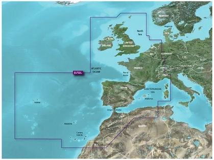 Garmin VEU722L Europe Atlantic Coast BlueChart g3 Vision