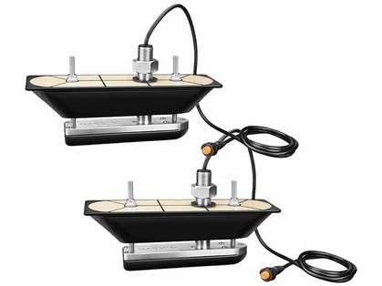 Garmin GT30-THP SS Thru-Hull Transducer Pair w/ DownVu/SideVu & Temp