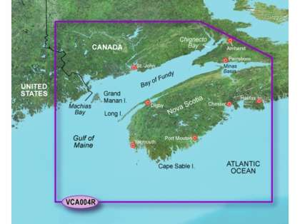 Garmin BlueChart g2 Vision Bay of Fundy SD Card