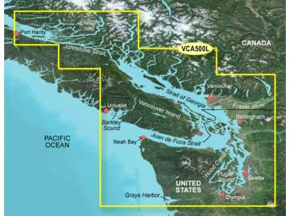 Garmin BlueChart g2 Vision LARGE Puget Sound to Port Hardy SD Card