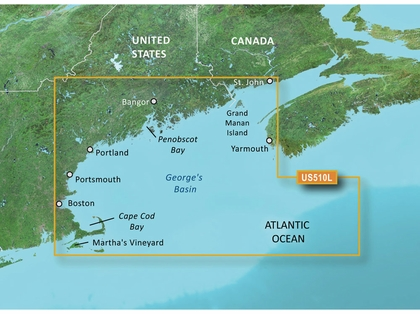 Garmin BlueChart g2 Vision LARGE St. John to Cape Cod SD Card