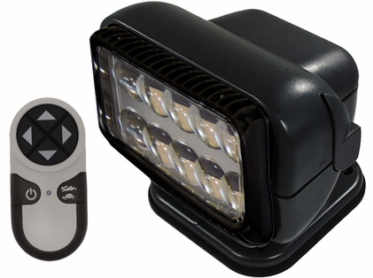 Golight Permanent RadioRay LED w/ Wireless Hand-Held Remote - Black