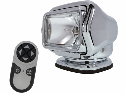 Golight HID Stryker Searchlight 12V w/ Wireless Remote - Chrome