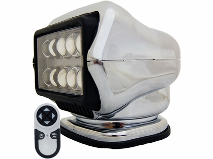 Golight LED Stryker Searchlight w/ Wireless Remote - Magnetic - Chrome