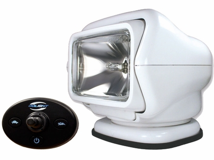 Golight Stryker Searchlight 12V w/ Wired Dash Cont. & Harness - White