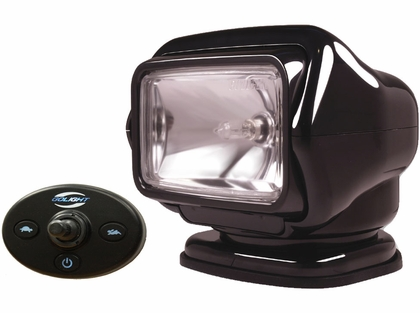 Golight Stryker Searchlight 12V w/ Wired Dash Cont. & Harness - Black