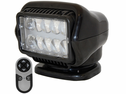 Golight LED Stryker Searchlight w/ Wireless Remote - Magnetic - Black