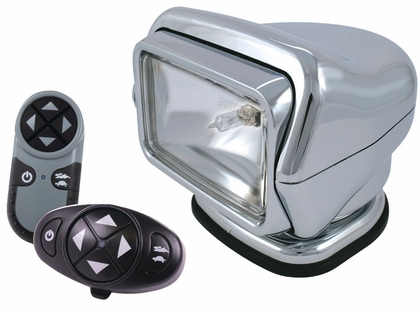 Golight Stryker Searchlight 12V w/ Wireless Dash & Remote - Chrome