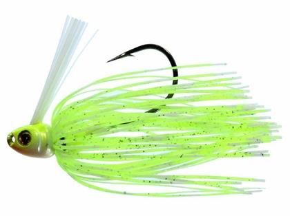 Greenfish Tackle Swim Jig - 1/4oz - Chartreuse White