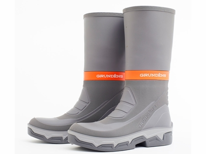 Grundens Deck Boss Boots - Grey/Orange - M9