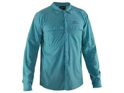 Grundens Hooksetter Long Sleeve Technical Shirt - Dusty Turquoise