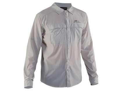 Grundens Hooksetter Long Sleeve Technical Shirt - Glacier Grey