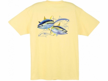 Guy Harvey MTH1329 Tuna Dash T-Shirts Yellow