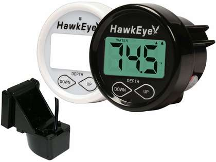 HawkEye D10DX.01T Depth Finder w/ Air/Water Temp - Transom Mount