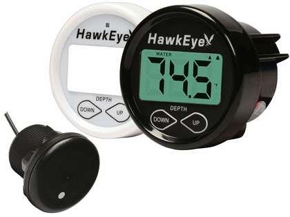 HawkEye D10DX.06T Depth Finder w/ Air/Water Temp - Thru Hull