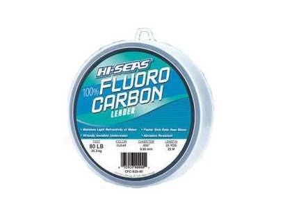 Hi-Seas Fluorocarbon Leader 25 yd. Spool CFC-B25-80