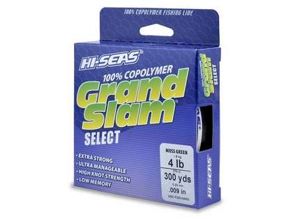 Hi-Seas Grand Slam Select Copolymer Fishing Line Moss Green