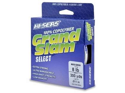Hi-Seas GSC-F300-08MG Grand Slam Select Moss Green 8lb 300yds