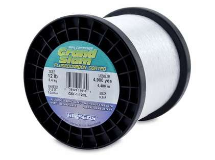 Hi-Seas GSF-1-12CL Grand Slam Fluorocarbon Coated 12lb 1lb Spool