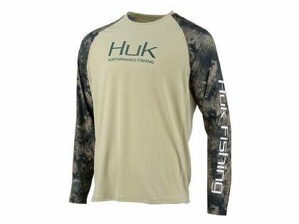 HUK Mens Double Header Vented Long Sleeve Shirt