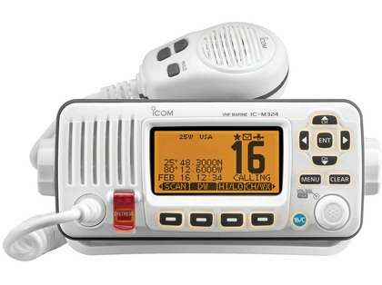 Icom IC-M324 02 Fixed Mount VHF Marine Transceiver - Super White