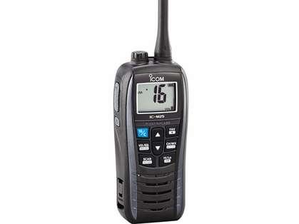 Icom M25 31 Float and Flash VHF Radio - Metallic Gray