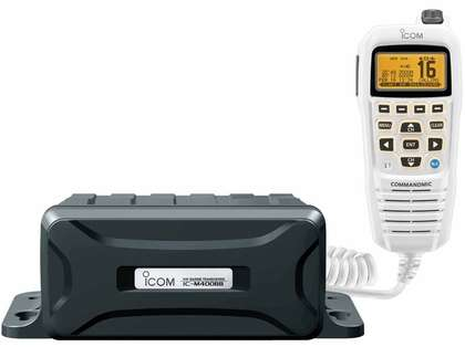 Icom M400BB SW Black Box VHF Marine Transceiver w/ White COMMANDMIC